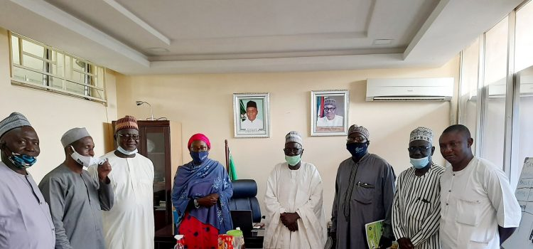 Officials of the Kaduna Chamber of Commerce,  Industry , Mines and Agriculture(KADCCIMA) paid a courtesy visit to the Honourable Commissioner of Agriculture